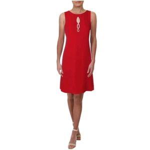 COPY - SLNY Sleeveless Cocktail Dress W/Rhineston…